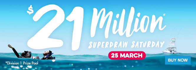 $21 million Super Draw  25 March 2017 thelott.com