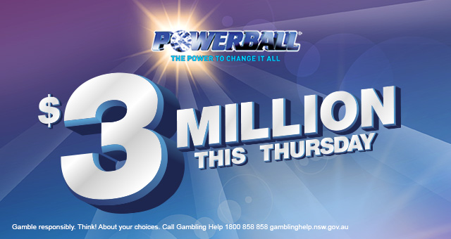 Powerball - $3 Million Jackpot Banner