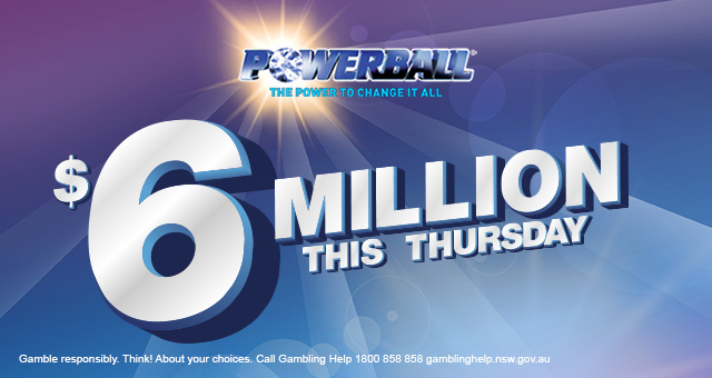 Powerball - $6 Million Jackpot Banner