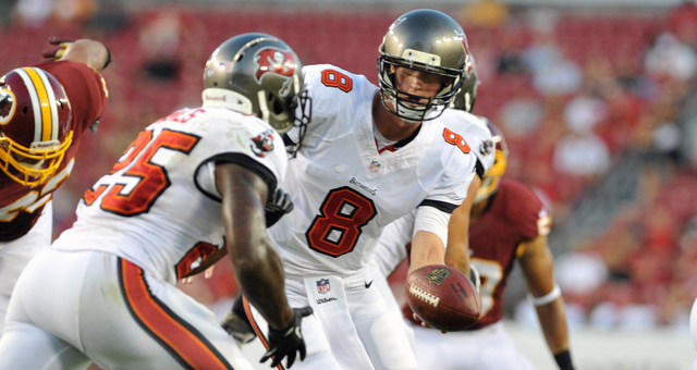 Mike Glennon and Mike James.  Image courtesy of bleacherreport.com/Al Messerschmidt/Getty Images